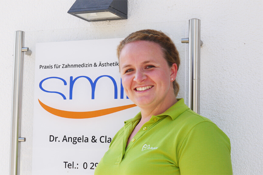 Olga Schütz, Behandlungsassistenz, Materialbeschaffung und Kinderprophylaxe